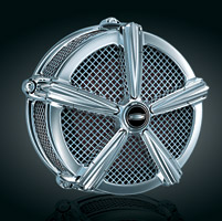 Kuryakyn Mach 2 Chrome Air Cleaner for Custom Applications