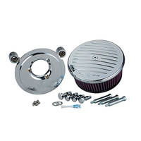 Arlen Ness Stage II Billet Sucker Kit for Twin Cam, Chrome Grooved Cover