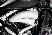 Arlen Ness Chrome Double Barrel Air Cleaner for Twin Cams