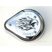 Chrome Dome Screaming Eagle with Flame Hood Air Cleaner Insert