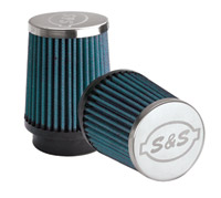 S&S Cycle Blue Single Bore Filter