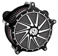 Roland Sands Design Ronin Contrast Cut Venturi Air Cleaner for Big Twins W/CV Carb, Contrast Cut
