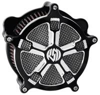 Roland Sands Design Turbo Venturi Air Cleaner for Big Twin, Contrast Cut