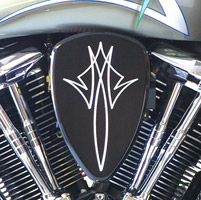 Baron Custom Accessories Black Pin Stripe Big Air Kit
