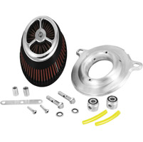 Alloy Art Chrome Moto Intake Kit for Big Twin