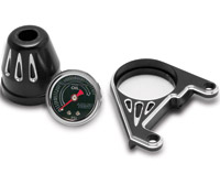 Arlen Ness Deep Cut Oil Pressure Gauge Kit