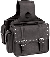 River Road Quantum Studded Compact Saddlebags