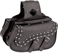 River Road Quantum Studded Slant Medium Saddlebags