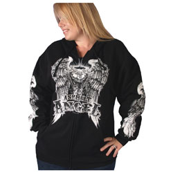 Hot Leathers Asphalt Angel Zippered Hoodie