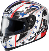 HJC RPS-10 Patriot Red, White and Blue Full Face Helmet