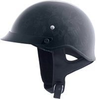 HJC CS-Cruiser Threat Dark Gray and Black Half Helmet