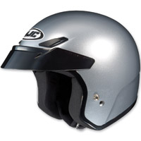 HJC CS-5N Metallic Silver Open Face Helmet