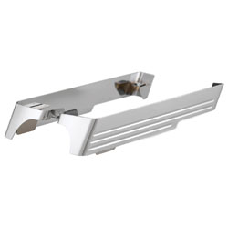 Cycle Smiths Chrome Billet Saddlebag Extensions with Cut-Outs for Dual Exhausts