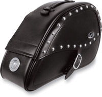 Saddlemen RigidMount Teardrop Desperado Saddlebags with LED Marker Lights