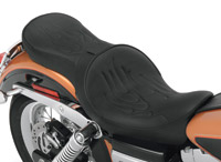 Drag Specialties Low-Profile Flame Stitch Touring Seat