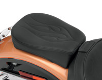 Drag Specialties Flame Stitch Wide Passenger Seat for Solo Seats