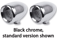Saddlemen Bullet LED Signal Light Kit Titanium-Coated Black Chrome