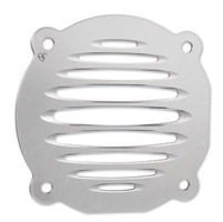 Arlen Ness Deep Cut Chrome Flat Speaker Grills