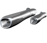 Akrapovic Slip-On Chrome Mufflers