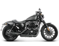 Akrapovic Slip-On Muffler for Sportster, Black