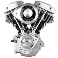 S&S Cycle 93″ Shovelhead Style Engine with Cast Gear Cover