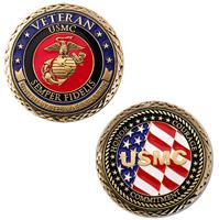 Motordog69 Veteran US Marines Challenge Coin