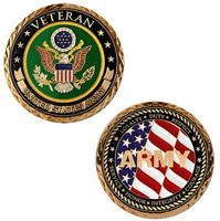 Motordog69 Veteran US Army Challenge Coin