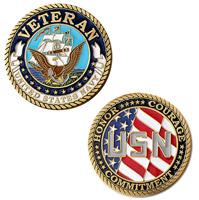 Motordog69 Veteran US Navy Challenge Coin