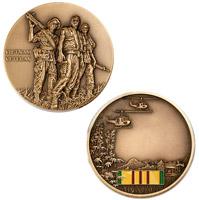 Motordog69 Vietnam Veteran Engravable Challenge Coin