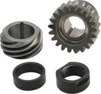 S&S Cycle Black Pinion Shaft Conversion Package for Big Twin