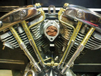 Old-Stf Brass Oil Line Kit for Shovelhead