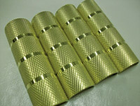 'Old-Stf' Knurled Brass Pushrod Tube Clips for Panhead and Sportster