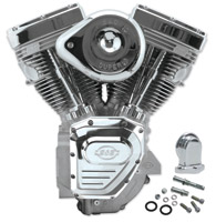 S&S Cycle Silver T111 Engine for Touring and Dyna