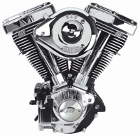 S&S Cycle Wrinkle Black V111 Complete Engine for Big Twin
