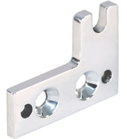 Polished aluminum Short Choke Knob Bracket