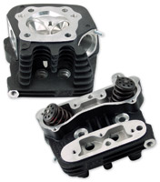 S&S Cycle Black Powdercoat Cylinder Heads for EVO Style Motors