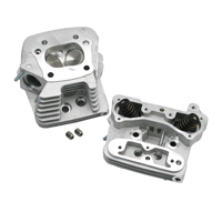 S&S Cycle Natural Finish Cylinder Heads for EVO Style Engines