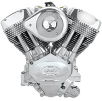 S&S Cycle Silver X-wedge 117″ Engine