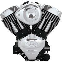 S&S Cycle Black X-wedge 117″ Engine
