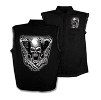 Hot Leathers Assassin Sleeveless Denim Shirt