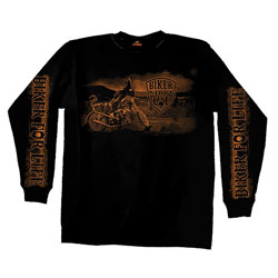 Hot Leathers Biker for Life Long-Sleeve T-Shirt