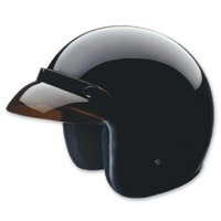 HCI-10 Gloss Black Open Face Helmet