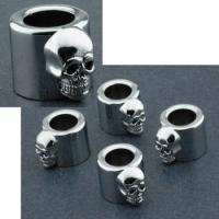 J&P Cycles® Skull Pushrod Cover Spring Cups