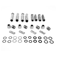 V-Twin Manufacturing Chrome Pushrod Cover Kit