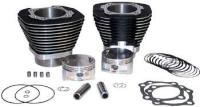 S&S Cycle 95″  Cylinder and Piston Kit Wrinkle Black