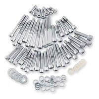 Gardner Westcott Chrome Cam, Transmission & Primary Cover Fastener Kit for FL Touring Models