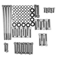 Gardner Westcott Unpolished Stainless Cam, Transmission & Primary Cover Fastener Kit for  FL Touring Models