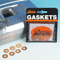 Genuine James Copper Top Rocker Cover Washers for Sportster