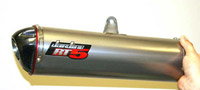 Jardine Titanium Fiber Canister RT-Five Slip-On Mufflers for Buell 1125R