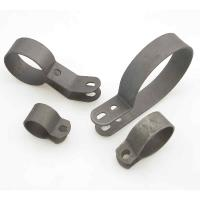 V-Twin Manufacturing 4-Piece Black Pipe Clamp Set